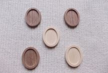Wooden pendant bases for jewelry making, wooden craft supply / wooden craft, jewelry making, diy, wooden trays, woodworking