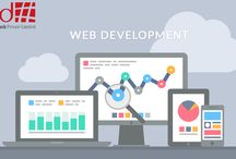 Website Development offer / This board offering info about website development services by The Red Hash.
