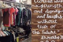 Bridge Boutique / The Bridge to Hope supports our Bridge families by offering an area for a Bridge Boutique where they can shop for their needs and their wants. Clean your closet today and give away your favorite blouse! #B2H http://b2hope.org/get-involved/needs/