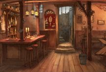 Tavern Interiors and Exteriors