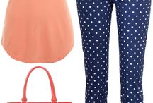 How to wear: polka dot jeans