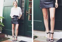 white blouse black skirt