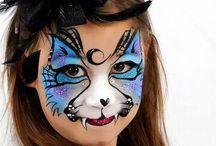 Halloween face paint children