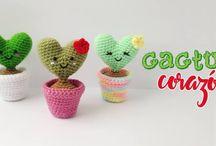 Cactus Corazón Amigurumi / cactus corazón amigurumi regalo para este día de la madre #cactus #amigurumi #corazon #patron