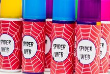 Party Theme: Superheroes / Roll call! Batman, Spiderman, Superman, Hulk, Wonder Woman. Too many to choose from so why not be inspired by their powers – BAM, POW, ZAP. Bright Blue, red, white and yellow create a strong backdrop and palette. For more party planning advice visit www.imprintables.com.au/details