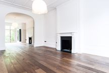 Smoked Oak. / Smoked Oak fitted in London.