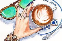 Кофе, очки, духи и всякие штучки