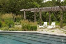 The Hamptons Style - Garden Design / Garden design in a beach style - The Hamptons - maritime atmosphere, relaxed, informal, light colors, blues and browns and natural tones
