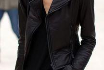Jaquetas de couro pretas