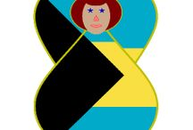 Bahamas from Auntie Shoe / Stuff about the Bahamas, including designs by Auntie Shoe with the Bahamanian flag on products.