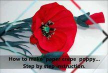 květiny z papíru nebo látky