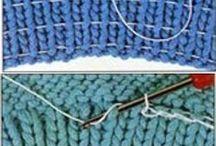 sy strikk på strikketøyet..