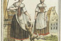 siglo XVIII - conocer e investigar / vestido, textil, adorno, objetos y escenas