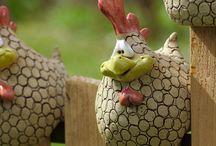 Cock & chicken