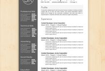 Cv / Examples of resumé design