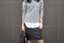 Closet - Leather and Suede Skirts