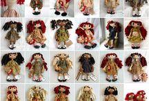 várias bonecas num corpo