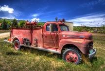 Weathering fire truck