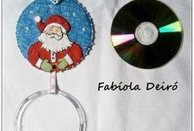 Trabalhos reciclagem by Fabíola Deiró