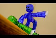 Stixbot and other stuff to show the little boy