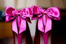 Sapatos rosa noiva