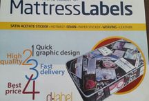 mattress /bed label / Best quality mattress/bed labels