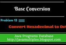 Base Conversion Problems / The solution of all base conversion problems in java.