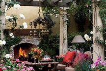 Outdoor living spaces and patio gardens