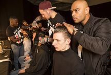 TONI&GUY Backstage at LCM SS16 / TONI&GUY backstage at LCM SS16.  Jermyn Street Event Hardy Amies Matthew Miller Baartmans and Siegel Chester Barrie House of Holland E. Tautz
