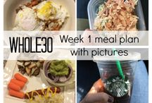 whole 30 // meal plans