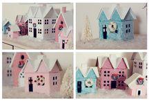 Christmas Glitter Houses awww