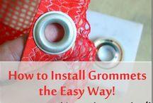 Installing grommets/Eyelets