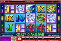 Crazy Chamaleon / Voglia di mare e di sole? Unisciti ai camaleonti surfisti di Voglia di Vincere per respirare un'aria di vacanza in ogni momento dell'anno. La particolarità di questa slot sta nella capacità del jolly di sostituire tutti i simboli. Gioca alla slot Crazy Chameleons e prova a vincere le 5.000 monete in palio.