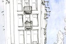 Urban Sketch - Library