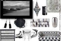 Inspiration Ethnique en noir & blanc by Aur'Décor