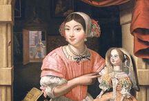 poupées et jouets anciens, tableaux / by erminig