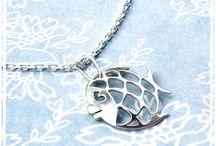 Avril et ses poissons... / Des poissons d'avril en papier, en carton, en bijoux...
