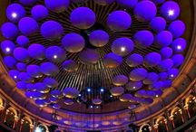 Acoustic sound panels in the roof of the Royal Albert Hall, London #HeathrowGatwickCars.com