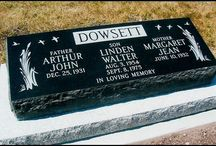 Slant Markers, Monuments & Memorials by Larsen Memorial / For custom design of Slant Markers, Memorials & Monuments contact Larsen Memorial. We have Experience in memorials & monuments industry. Call 204-633-5053 or http://larsensmemorials.com