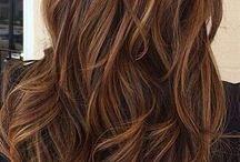 Bruine haarkleur / Mooi warme bruine haar kleuren