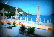 Theion Sea Bar / Ease your senses... Quench your thirst with our special drinks and cocktails and chill out letting yourself relax in the unique rhythm of Greek summer. http://goo.gl/QtWko3