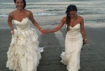 Trash the dress bride and gothmother