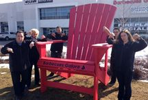 Big Red / The Big Red Chair is a staple at all Barbecues Galore locations - snap a picture with it next time you visit!