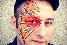 Ronnie Mena face paint