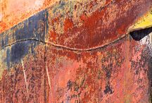 Rust and rusting paint