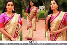 Designer Inspired Sarees / Collection of Latest Designer Inspired Sarees by BuyApparel. Shop now at http://www.buyapparel.in/buy-sarees-online/designer-sarees-inspired.html