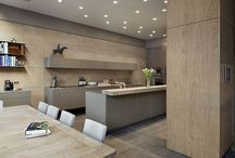 Kitchen Architecture bulthaup: case study - Grand dining / Kitchen Architecture - bulthaup b3 furniture in natural structured oak and clay laminate with a solid oak bar and 10 mm stainless steel work surfaces.