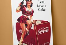 Coke Ad Posters on Canvas