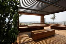 Wood outdoors rooftops