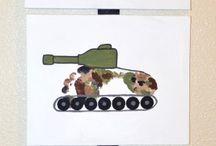 nápady pro děti - vojáci, vojenská technika